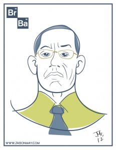 Gustavo sketch from the show Breaking Bad. Digital art by Jason May