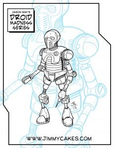 21B, droid, star wars, medic droid, bacta tank, blue, medical, jason may, jimmycakes, artwork, drawing, sketch, inked, ink